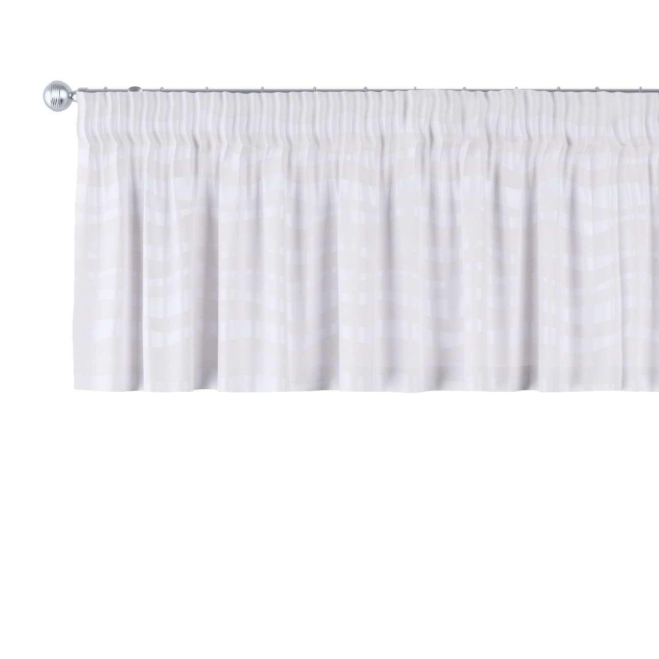 Krátky záves na riasiacej páske V kolekcii Damasco, tkanina: 141-87