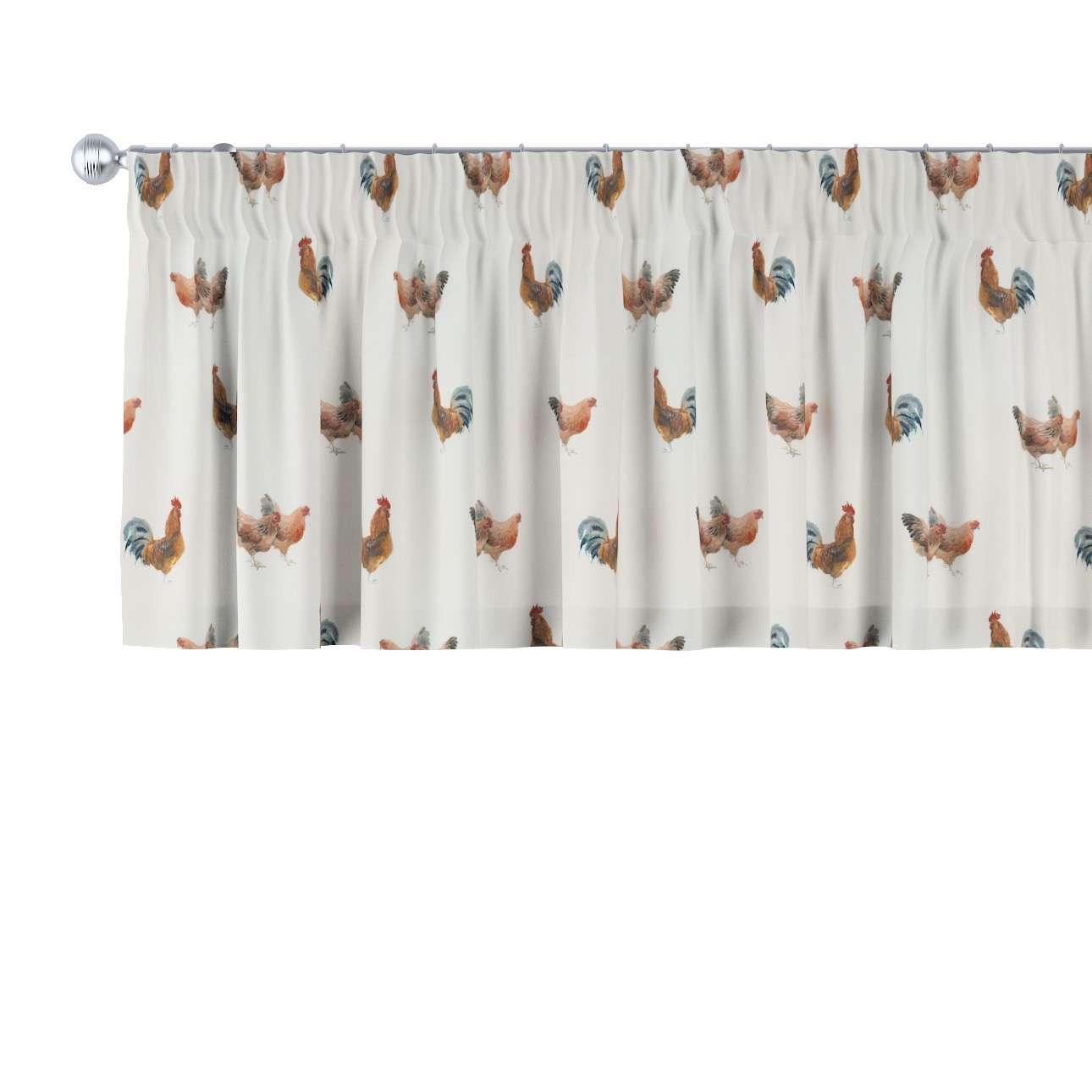 kurzgardine mit kr uselband braun creme 130 40 cm. Black Bedroom Furniture Sets. Home Design Ideas