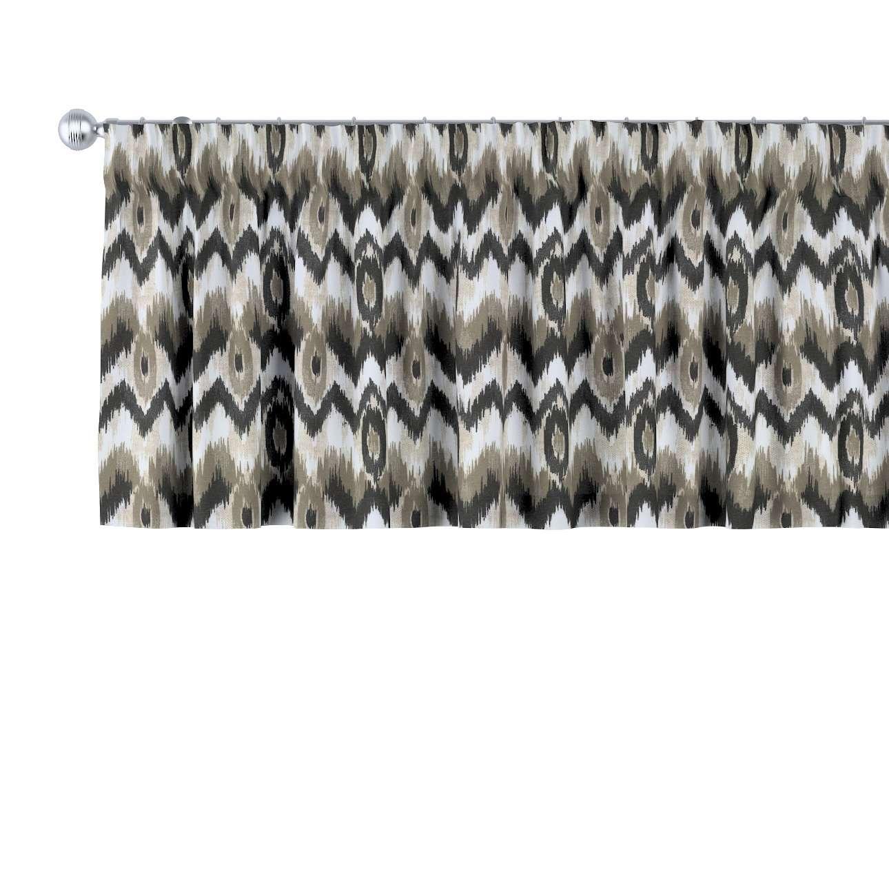 Cafégardin med rynkebånd og løbegang fra kollektionen Modern, Stof: 141-88