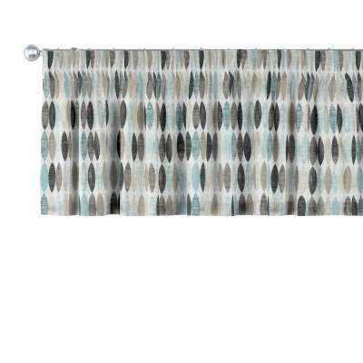 Gardinkappe med rynkebånd og løpegang H40cm 141-91 Naturhvit med print Kolleksjon Modern