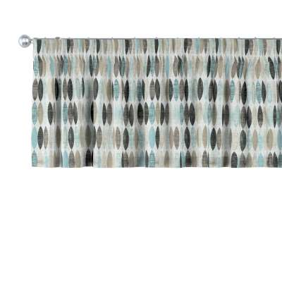 Kurzgardine mit Kräuselband 141-91 blau-beige Kollektion Modern