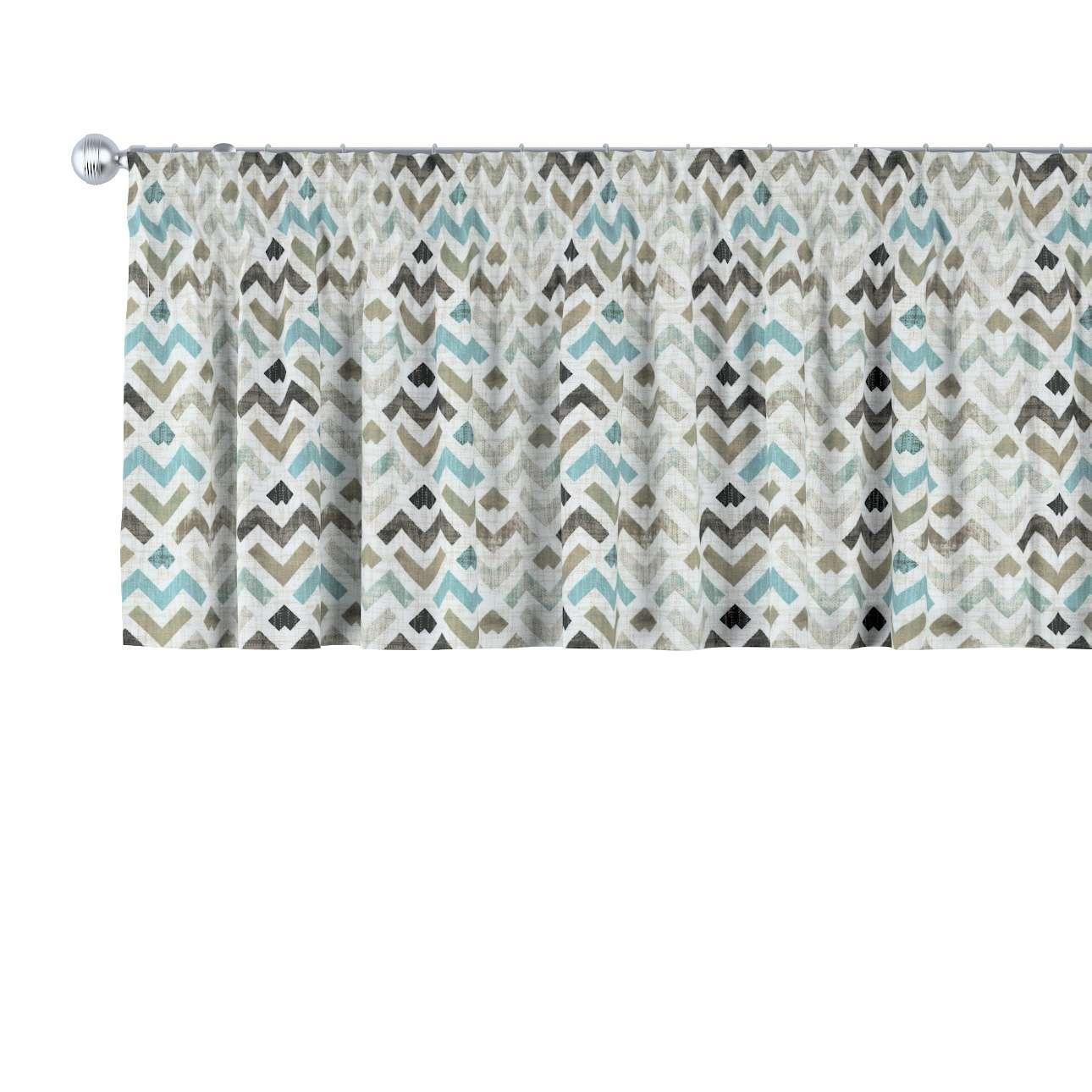 Lambrekin na taśmie marszczącej w kolekcji Modern, tkanina: 141-93