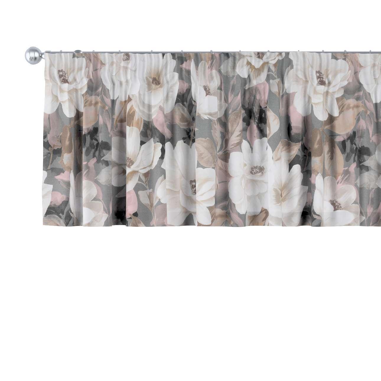 Lambrekin na taśmie marszczącej w kolekcji Gardenia, tkanina: 142-13