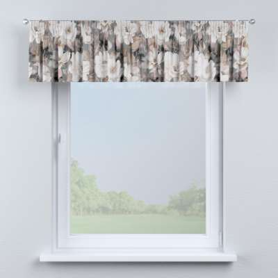 Krátky záves na riasiacej páske V kolekcii Gardenia, tkanina: 142-13