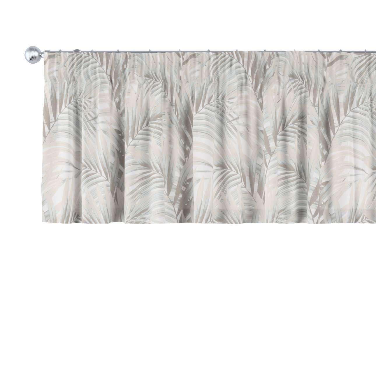 Cafégardin med rynkebånd og løbegang fra kollektionen Gardenia, Stof: 142-14