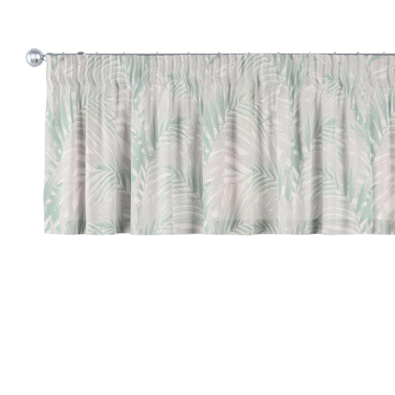 Gardinkappa med rynkband i kollektionen Gardenia, Tyg: 142-15