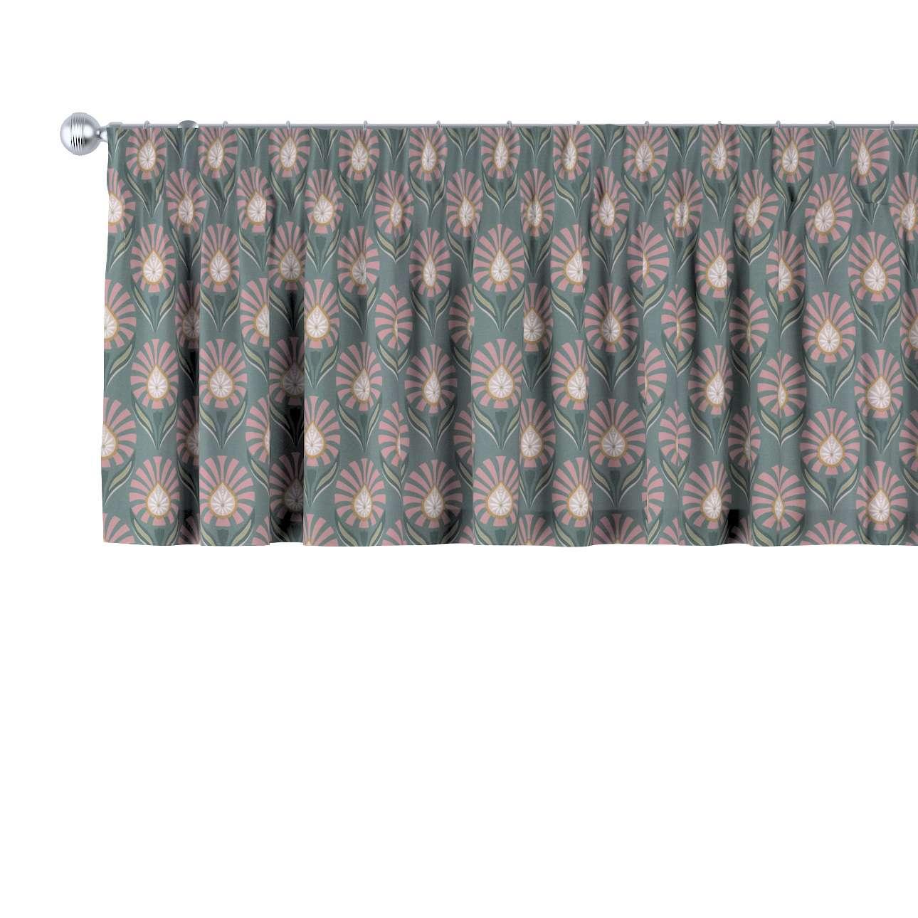 Krátky záves na riasiacej páske V kolekcii Gardenia, tkanina: 142-17