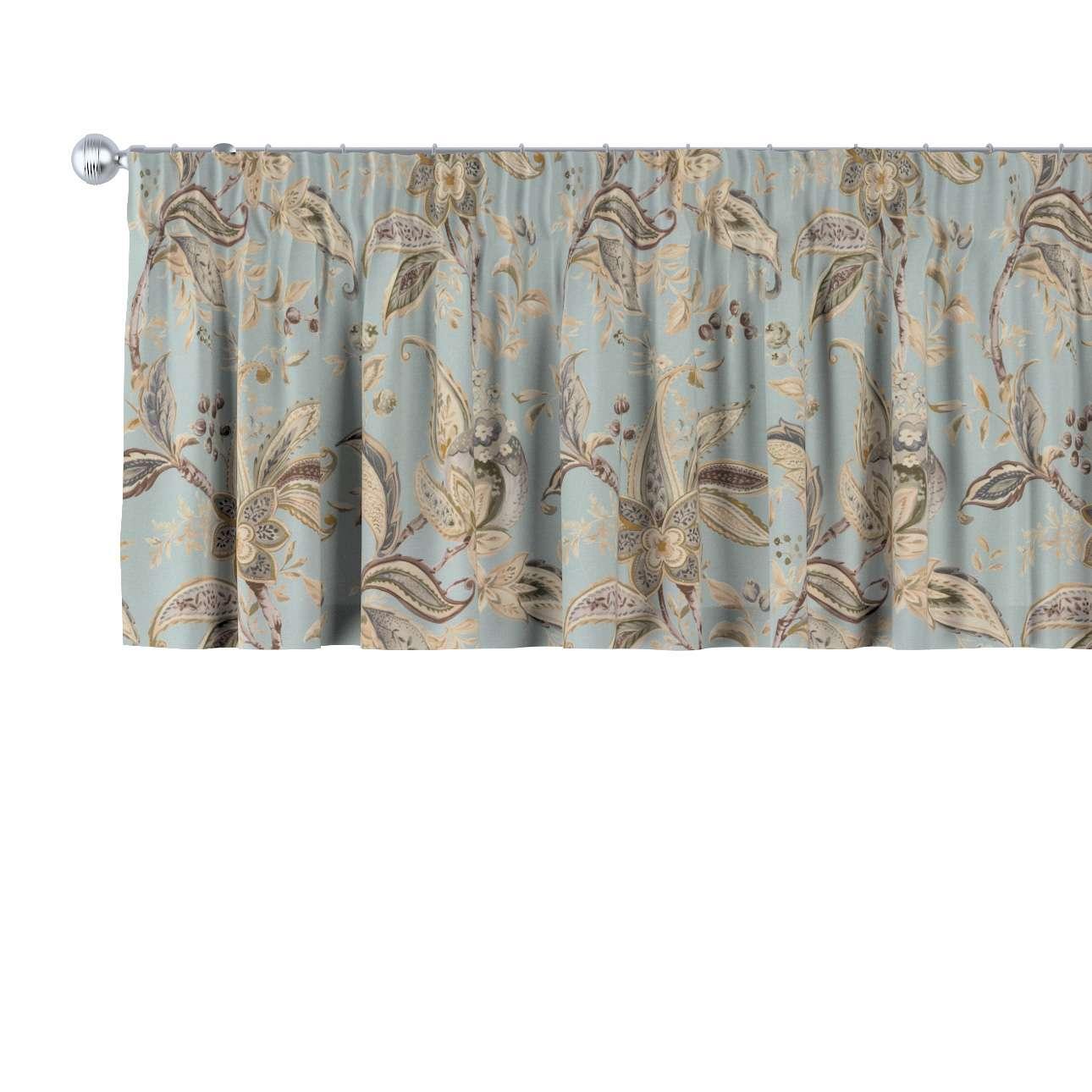 Gardinkappe med rynkebånd fra kollektionen Gardenia, Stof: 142-18