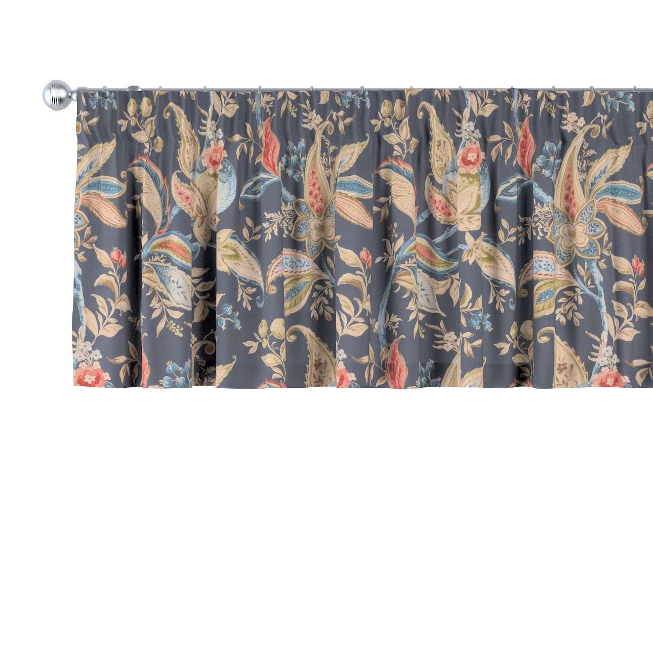 Gardinkappa med rynkband och kanal i kollektionen Gardenia, Tyg: 142-19