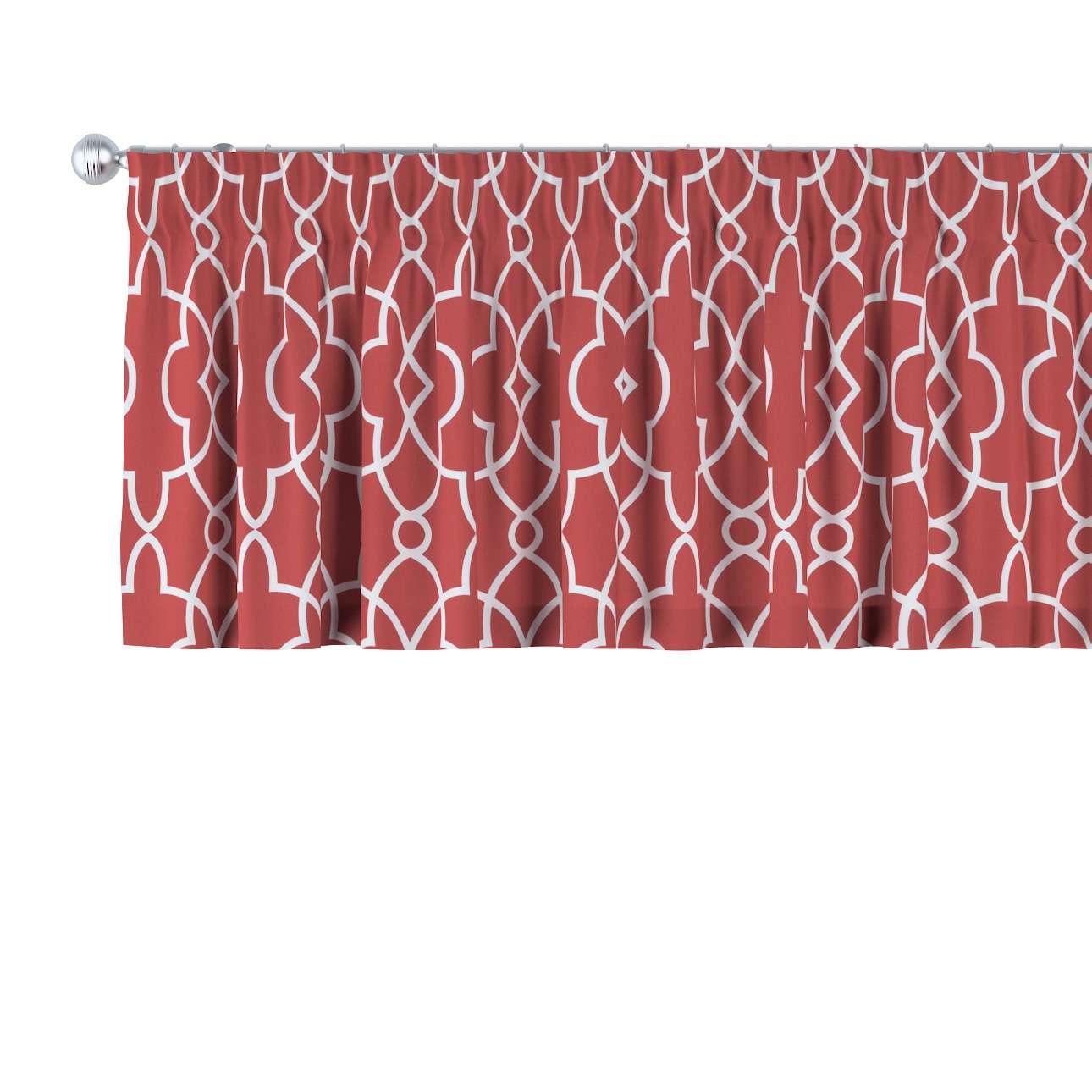 Krátky záves na riasiacej páske V kolekcii Gardenia, tkanina: 142-21