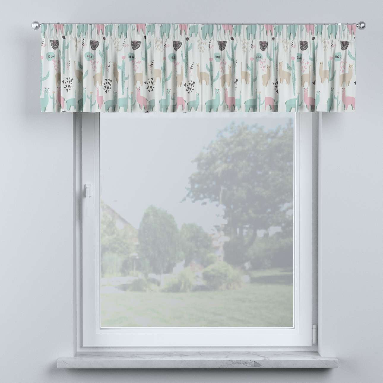 Lambrequin with gathering tape in collection Magic Collection, fabric: 500-01