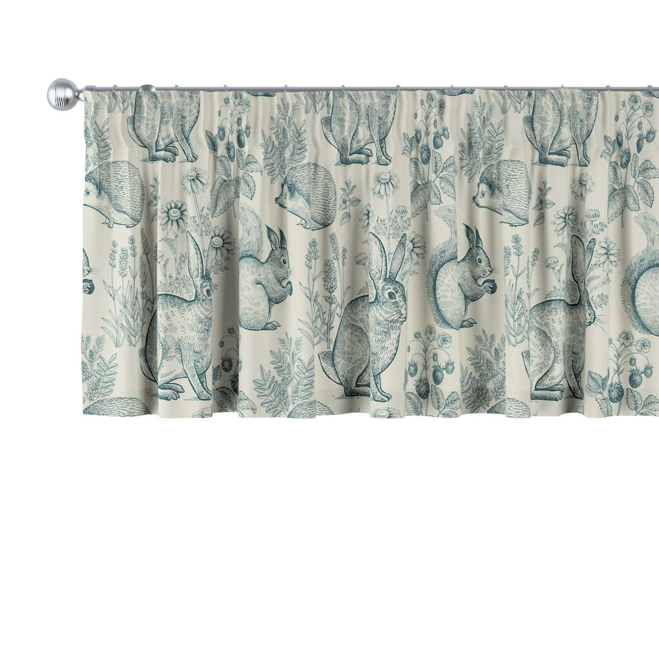 Lambrequin with gathering tape in collection Magic Collection, fabric: 500-04