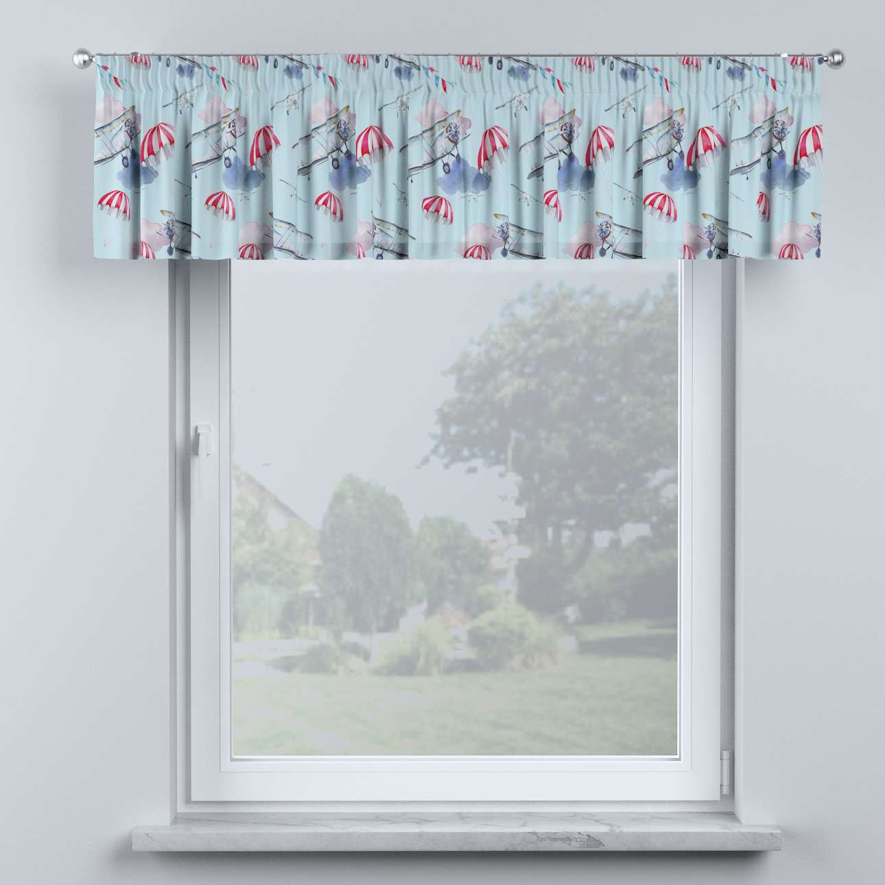 Lambrequin with gathering tape in collection Magic Collection, fabric: 500-10