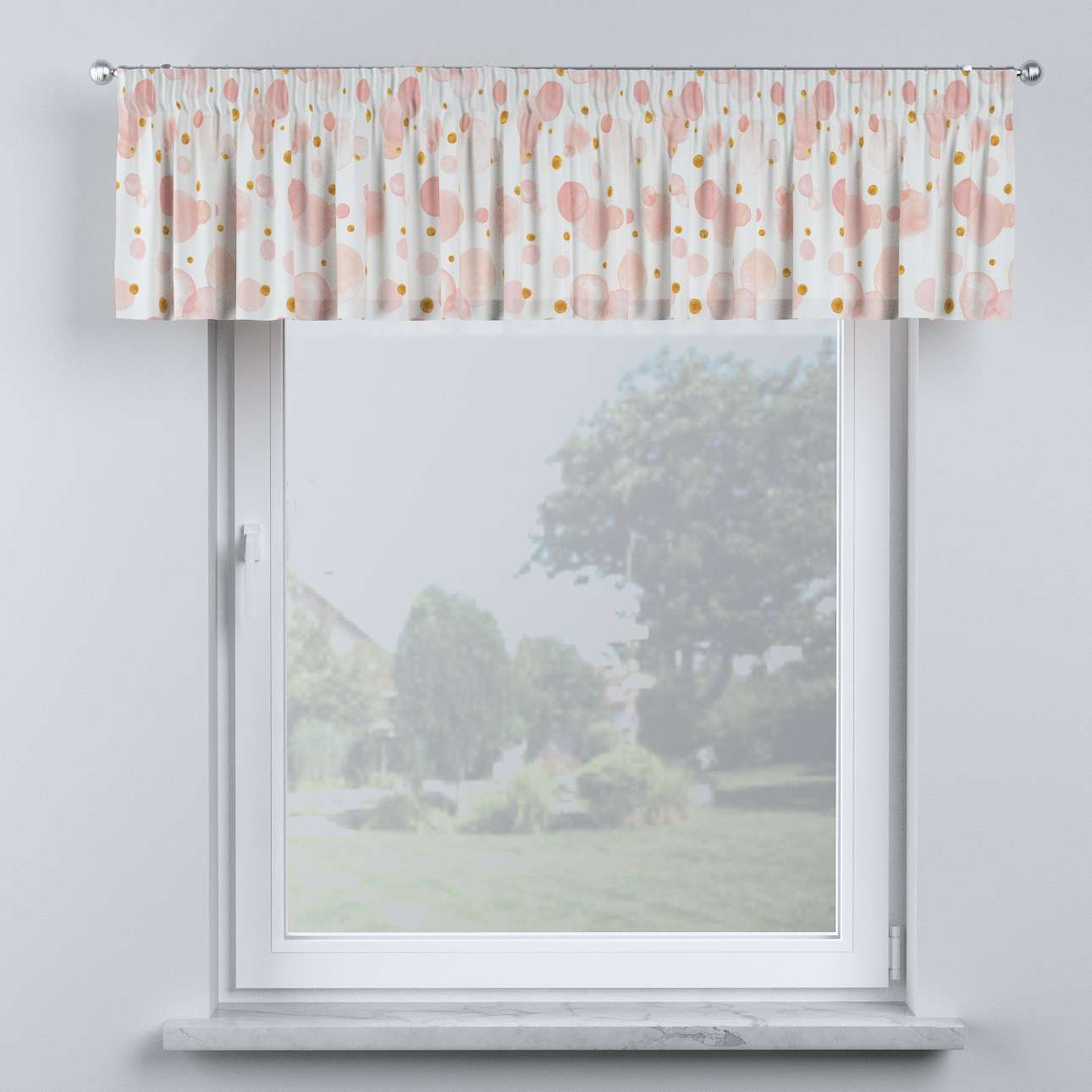 Lambrequin with gathering tape in collection Magic Collection, fabric: 500-13