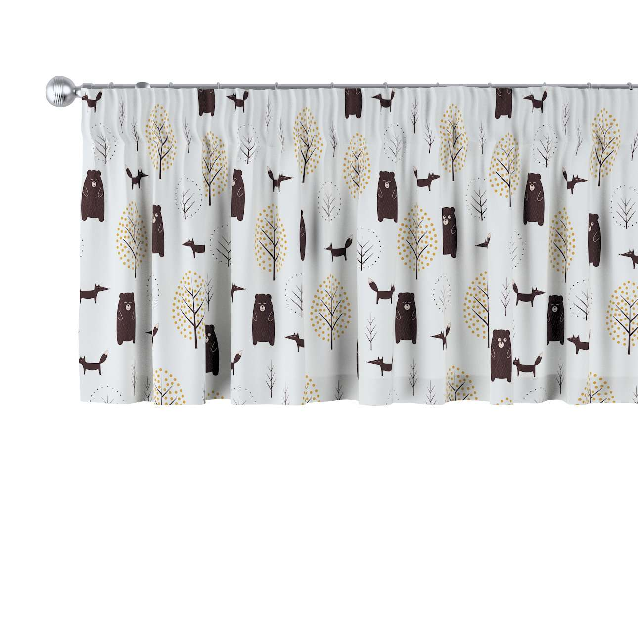 Lambrequin with gathering tape in collection Magic Collection, fabric: 500-19