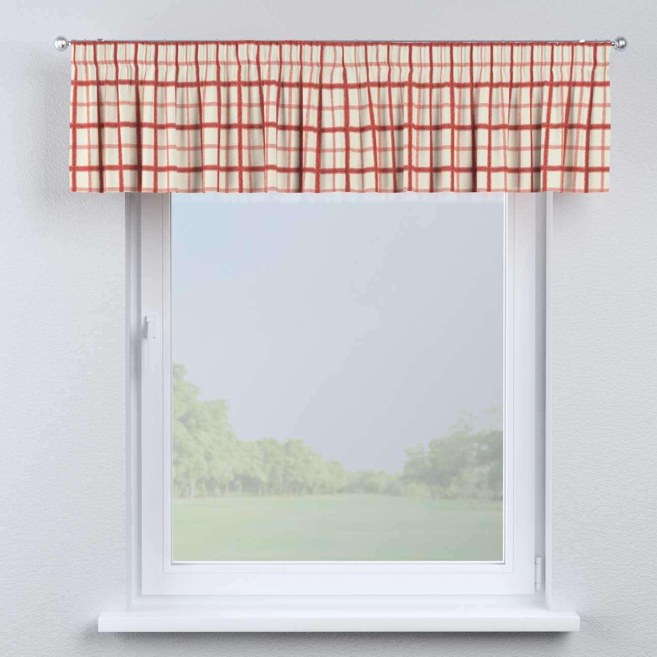 Gardinkappa med rynkband 130 x 40 cm i kollektionen Avinon, Tyg: 131-15