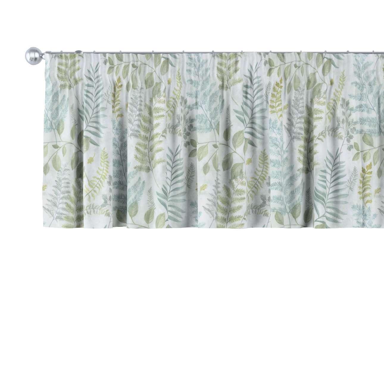 Gardinkappe med rynkebånd og løpegang H40cm fra kolleksjonen Pastel Forest, Stoffets bredde: 142-46