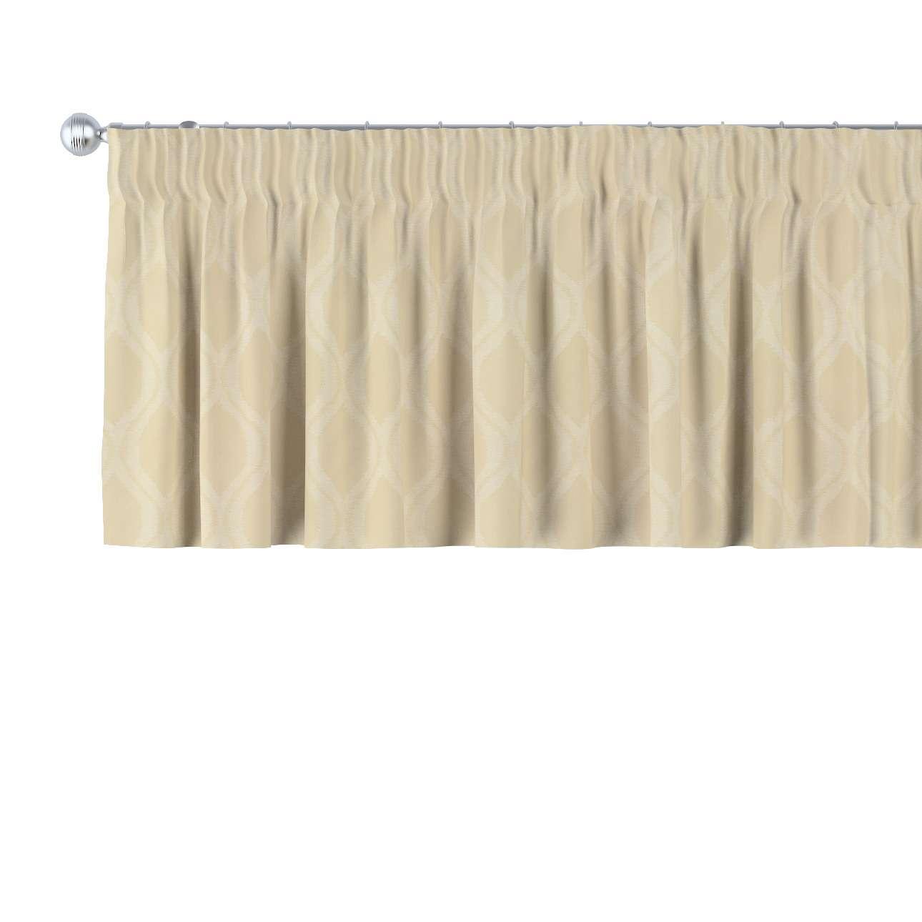 Krátky záves na riasiacej páske V kolekcii Damasco, tkanina: 142-53