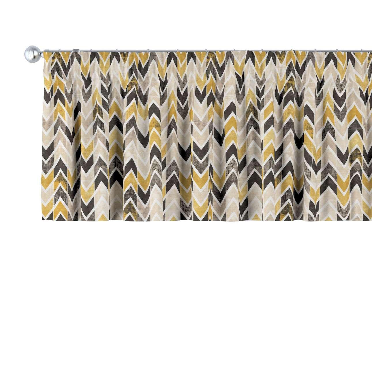 Krátky záves na riasiacej páske V kolekcii Modern, tkanina: 142-79