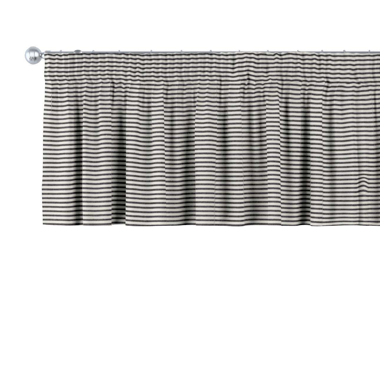 Pencil pleat pelmet in collection Quadro, fabric: 142-75