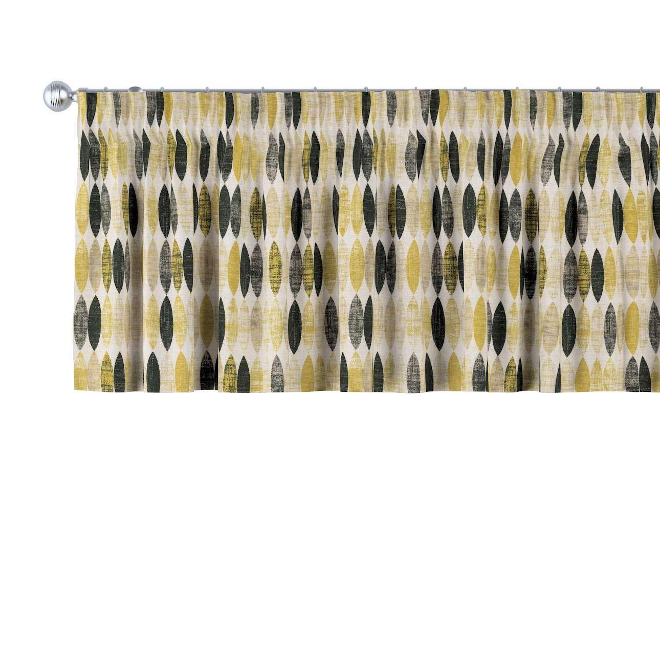 Cafégardin med rynkebånd og løbegang fra kollektionen Modern, Stof: 142-99