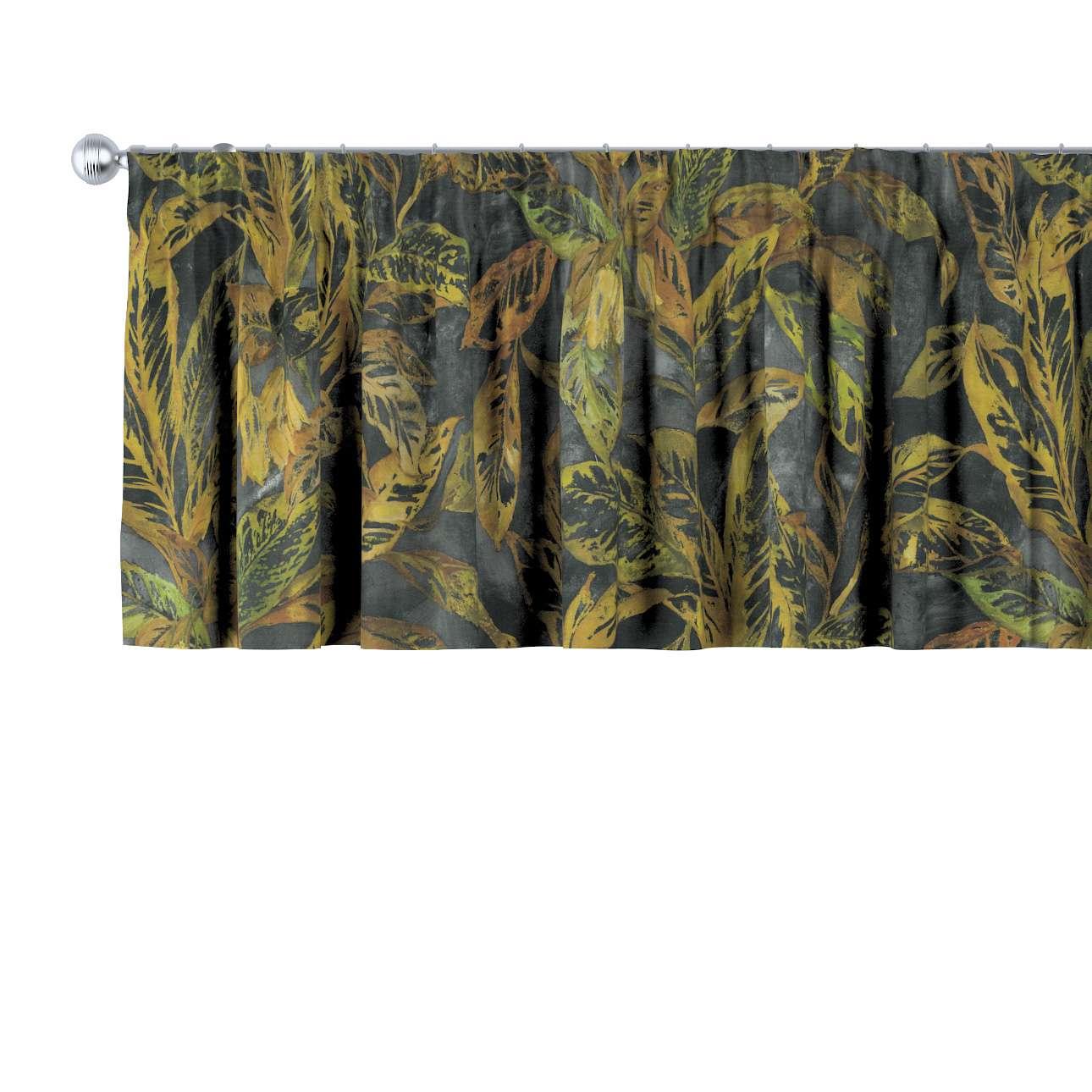 Lambrekin na taśmie marszczącej w kolekcji Abigail, tkanina: 143-01