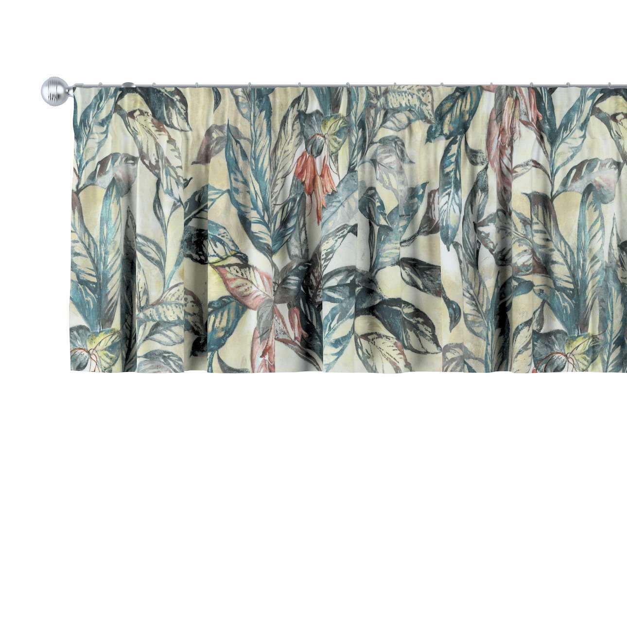 Krátky záves na riasiacej páske V kolekcii Abigail, tkanina: 143-08