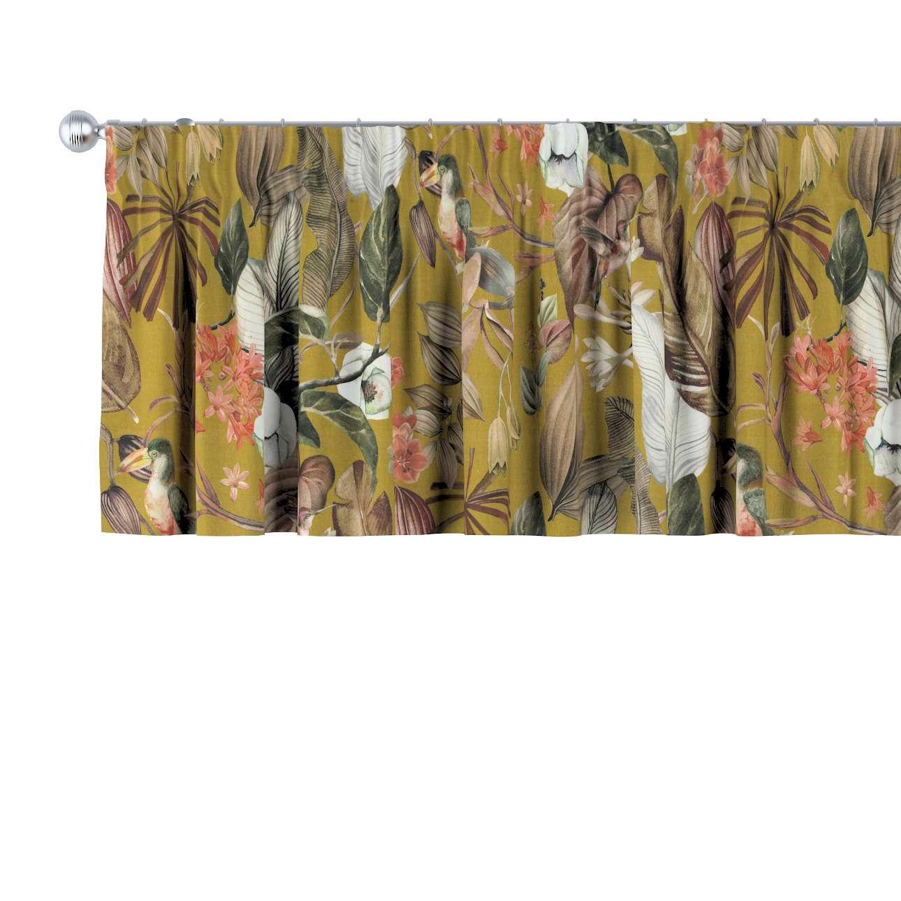 Krátky záves na riasiacej páske V kolekcii Abigail, tkanina: 143-09