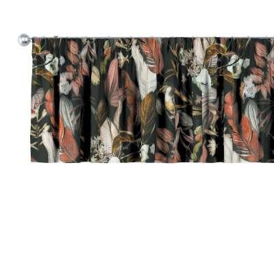 Kurzgardine mit Kräuselband 143-10 schwarz- braun Kollektion Abigail