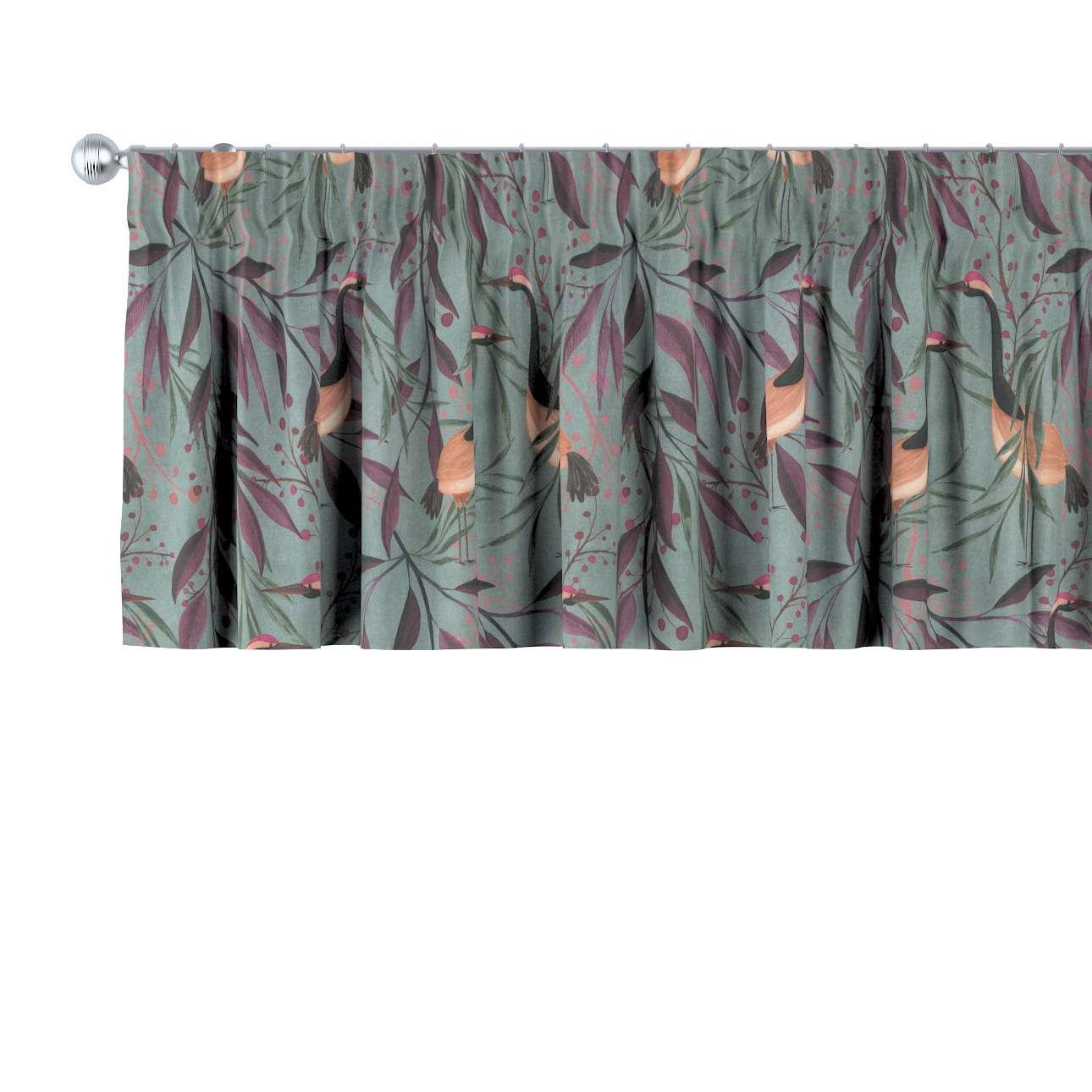 Krátky záves na riasiacej páske V kolekcii Abigail, tkanina: 143-11