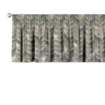 Krátky záves na riasiacej páske V kolekcii Abigail, tkanina: 143-12