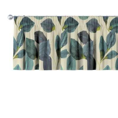 Kurzgardine mit Kräuselband 143-15 grün-blau Kollektion Abigail