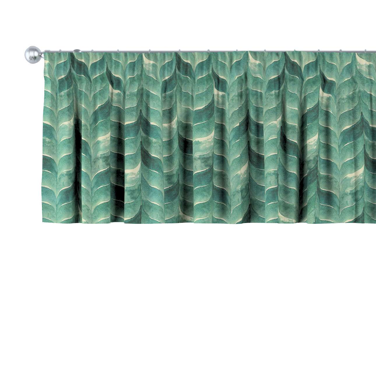 Krátky záves na riasiacej páske V kolekcii Abigail, tkanina: 143-16