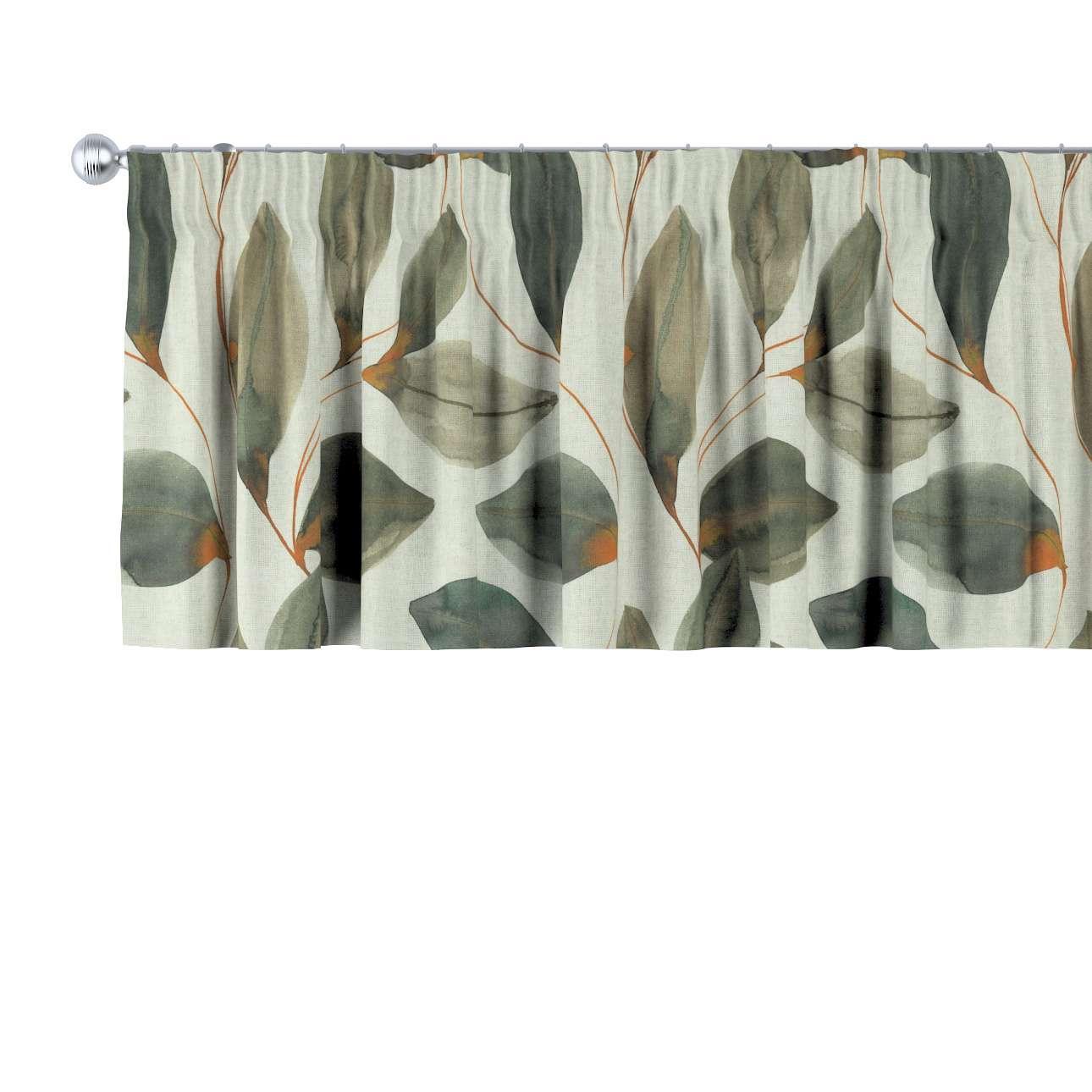 Krátky záves na riasiacej páske V kolekcii Abigail, tkanina: 143-17