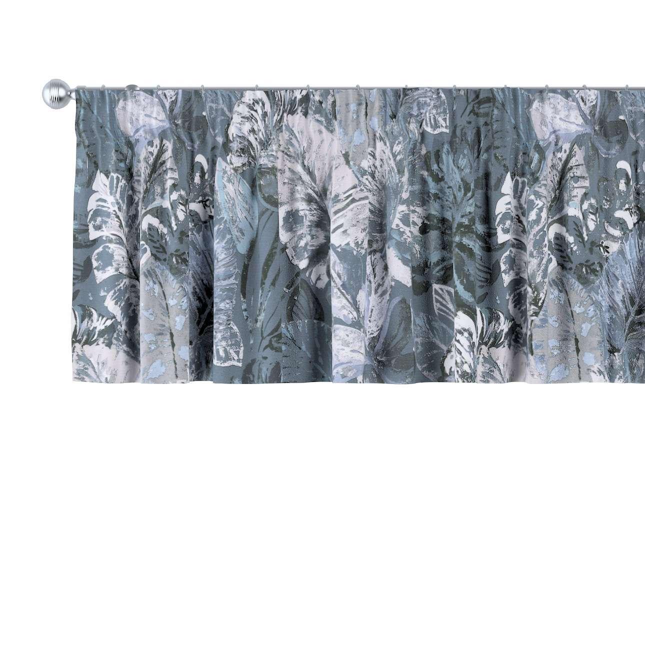 Krátky záves na riasiacej páske V kolekcii Abigail, tkanina: 143-18
