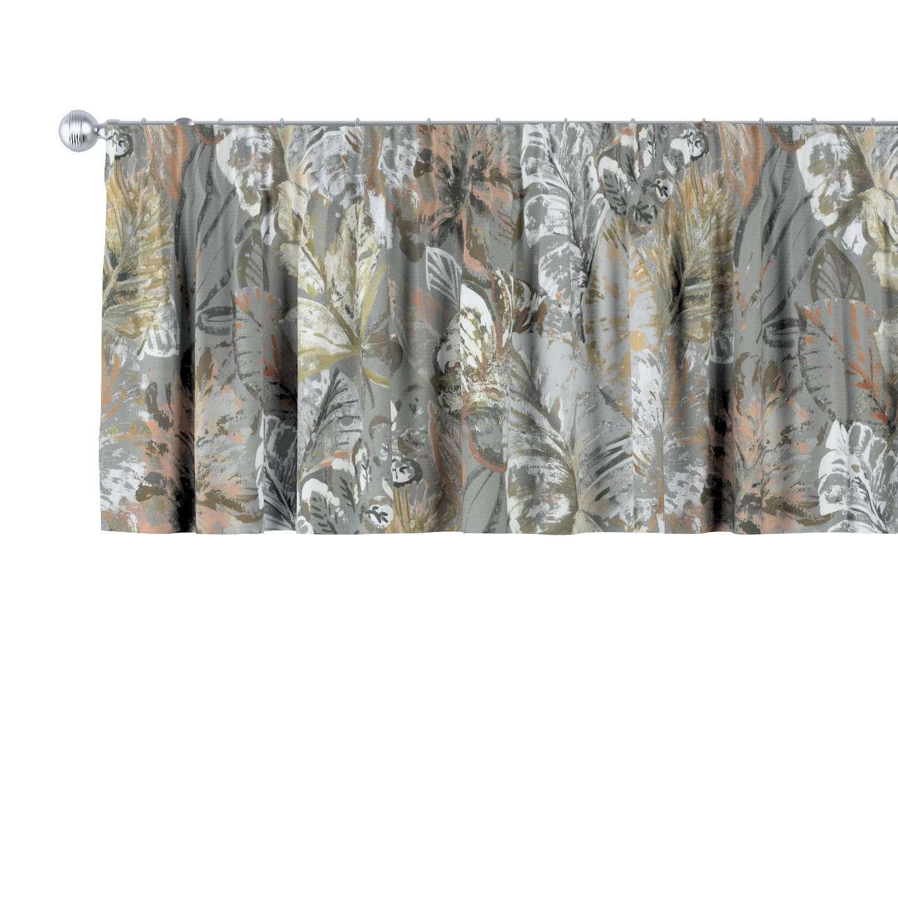 Krátky záves na riasiacej páske V kolekcii Abigail, tkanina: 143-19