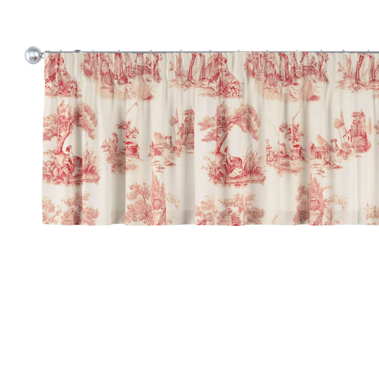 Pencil pleat pelmet 130 x 40 cm (51 x 16 inch) in collection Avinon, fabric: 132-15