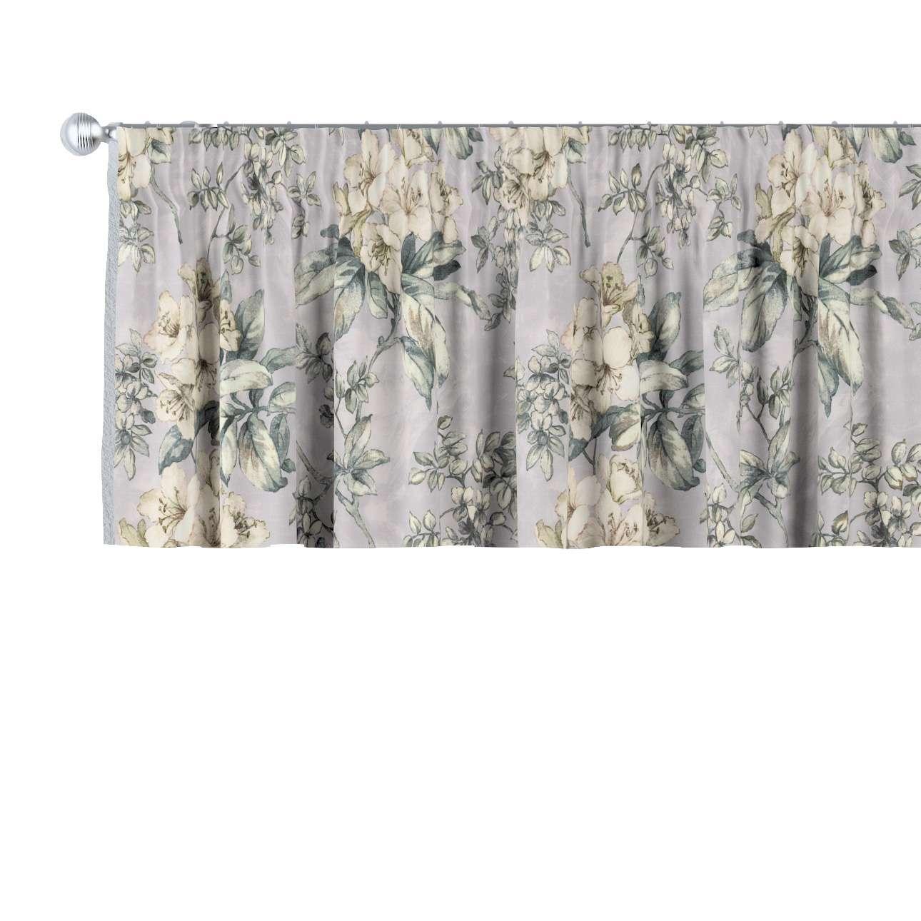 Krátky záves na riasiacej páske V kolekcii Londres, tkanina: 143-36