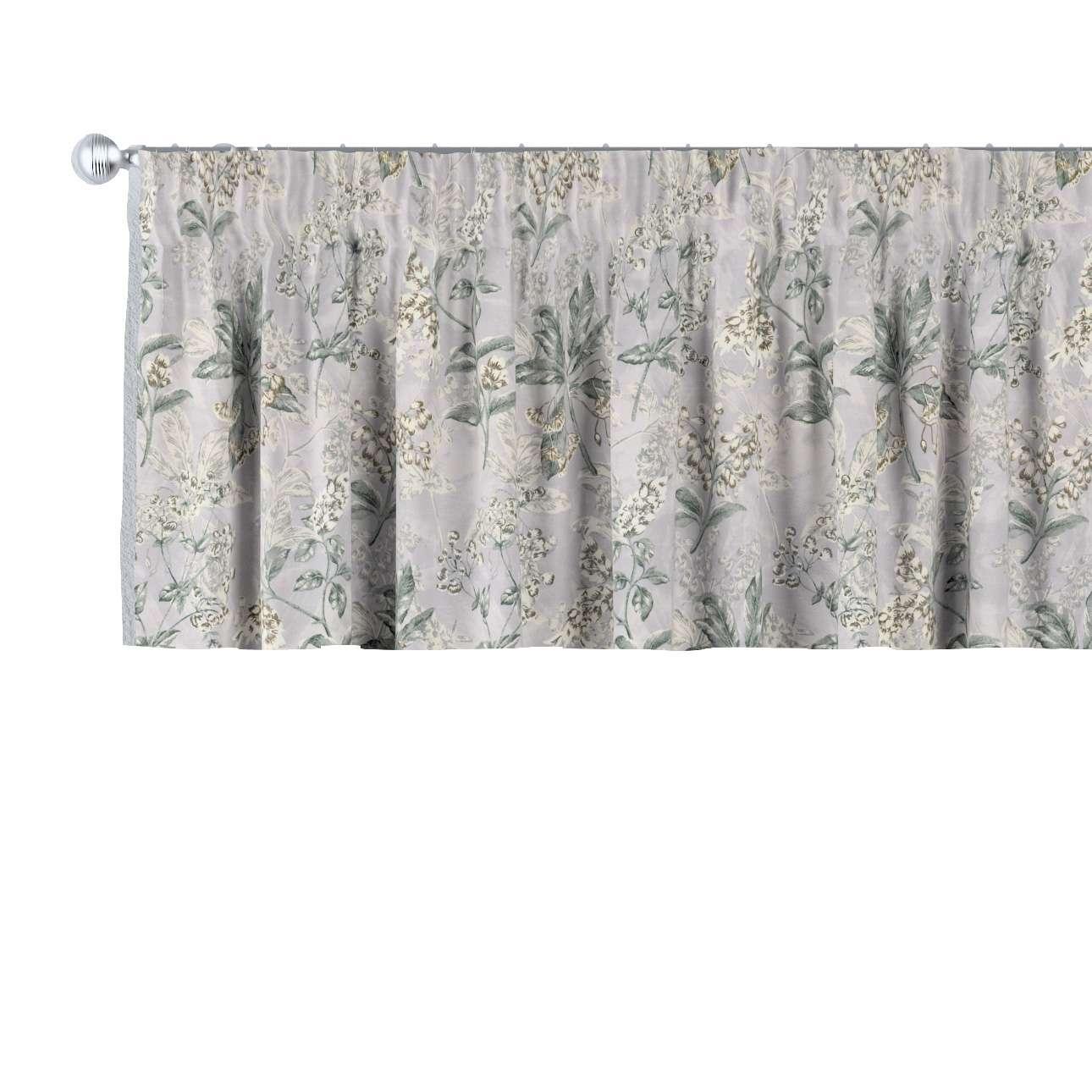 Krátky záves na riasiacej páske V kolekcii Londres, tkanina: 143-37