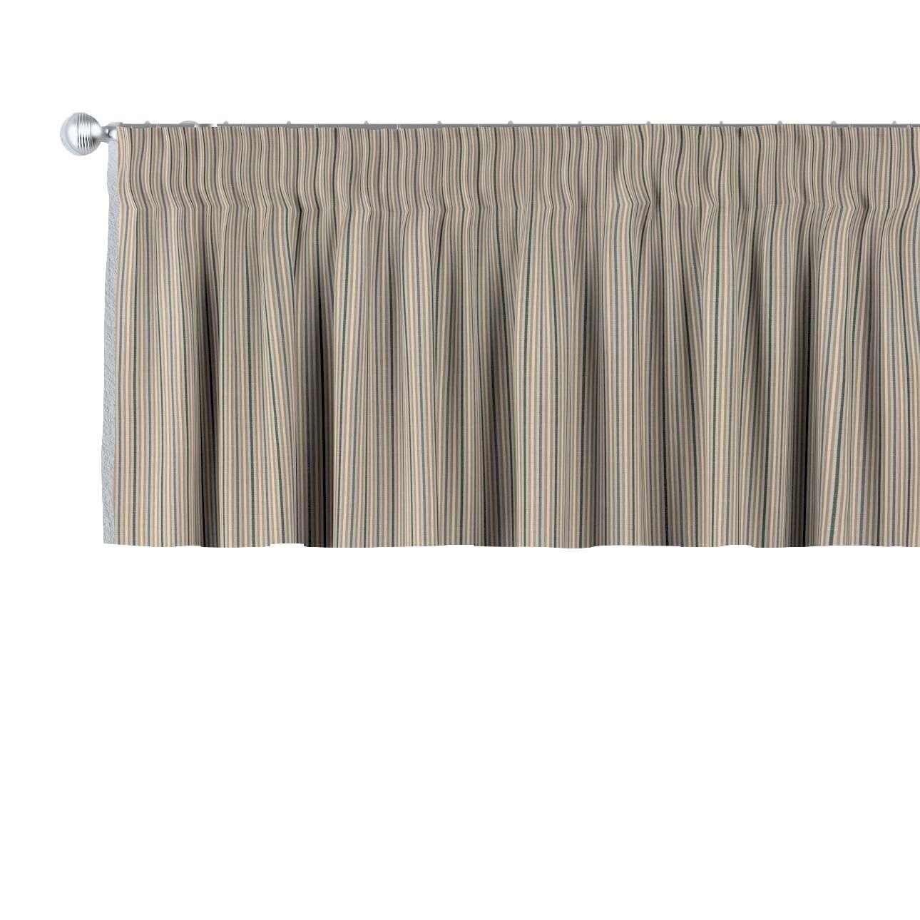 Krátky záves na riasiacej páske V kolekcii Londres, tkanina: 143-38