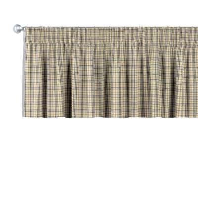 Krátky záves na riasiacej páske V kolekcii Londres, tkanina: 143-39