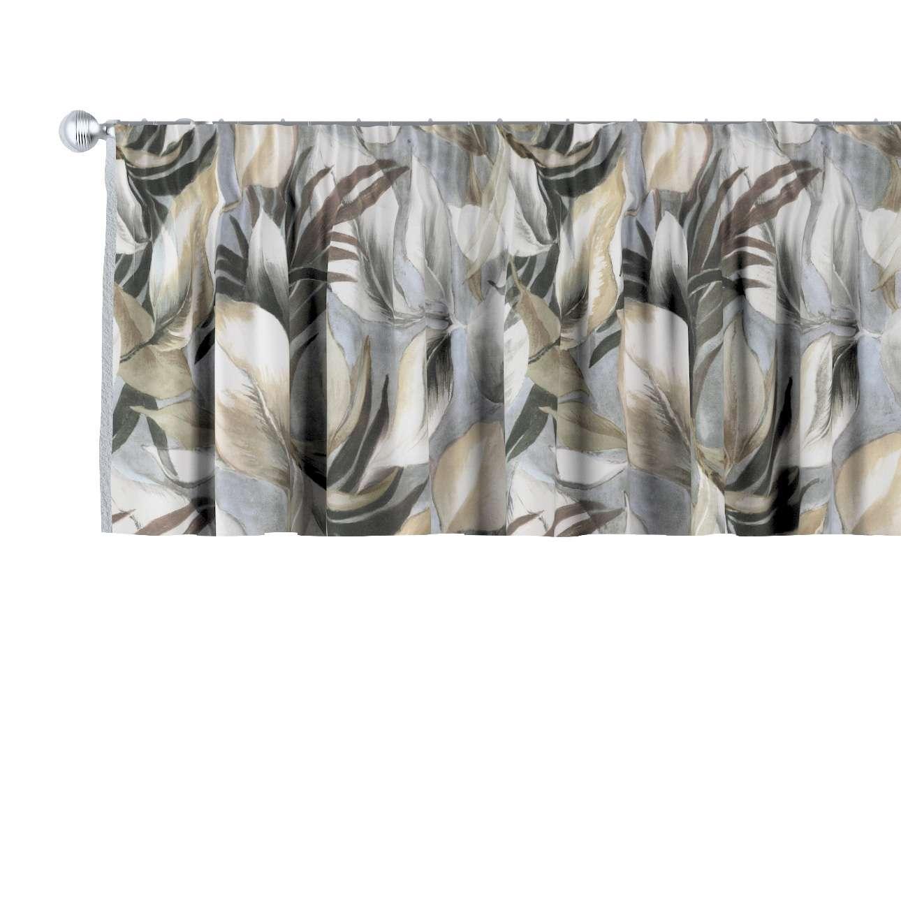 Krátky záves na riasiacej páske V kolekcii Abigail, tkanina: 143-60