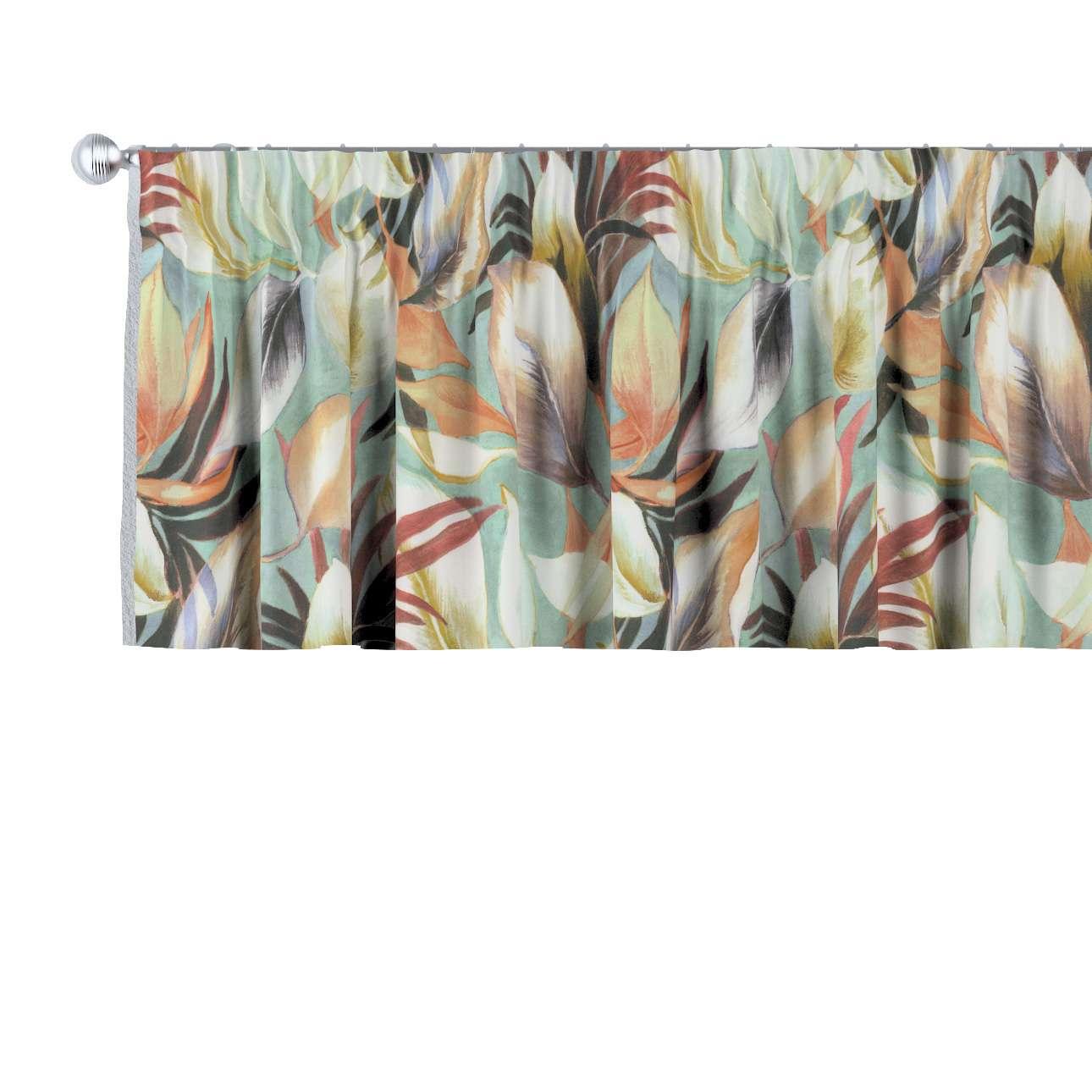 Lambrekin na taśmie marszczącej w kolekcji Abigail, tkanina: 143-61