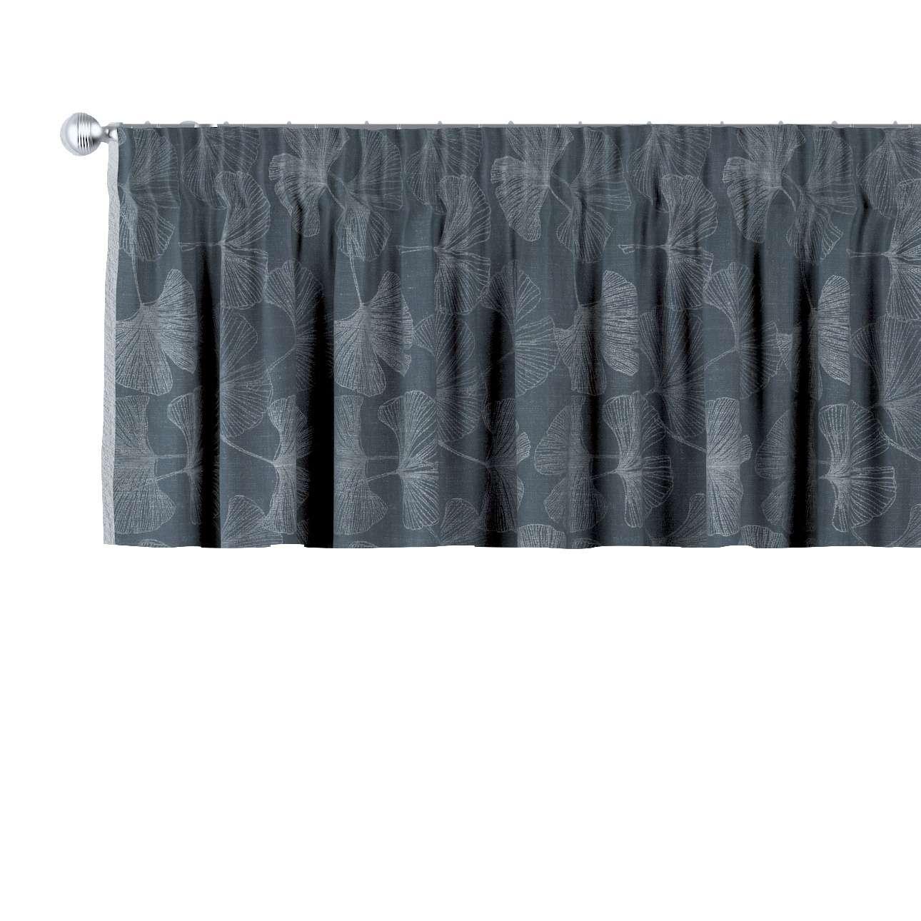 Gardinkappe med rynkebånd og løpegang H40cm fra kolleksjonen Venice, Stoffets bredde: 143-52