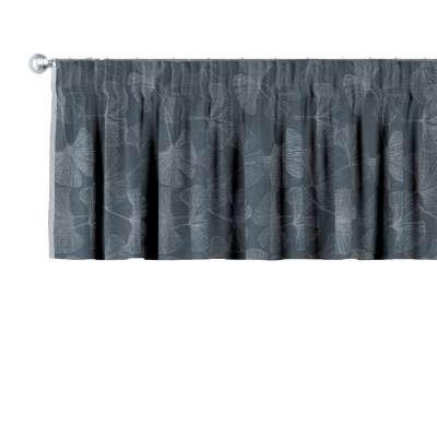Pencil pleat pelmet 143-52 graphite Collection Venice