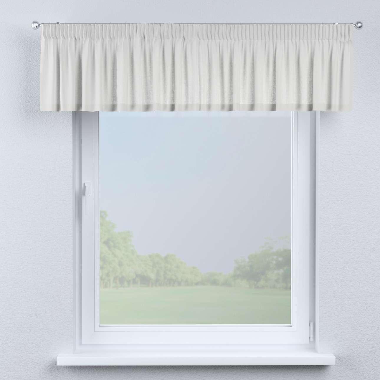 Krátky záves na riasiacej páske V kolekcii Linen, tkanina: 159-06