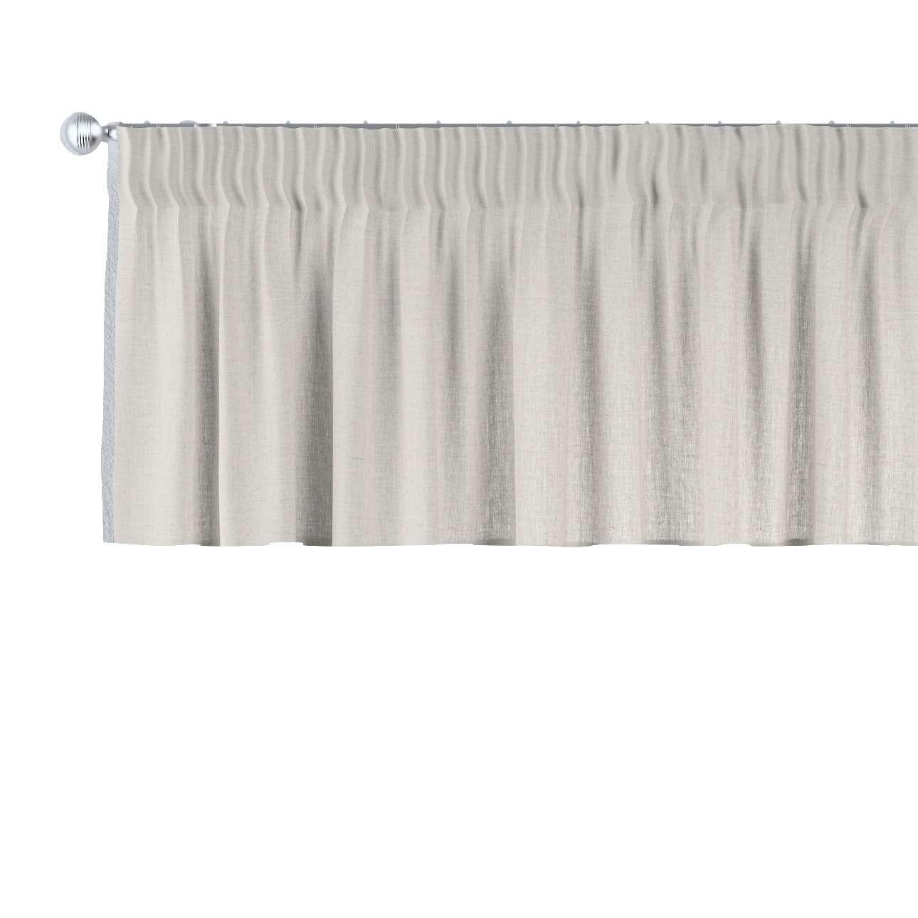 Lambrekin na taśmie marszczącej w kolekcji Linen, tkanina: 159-07