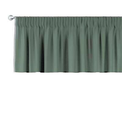 Kurzgardine mit Kräuselband 159-08 grün Kollektion Leinen