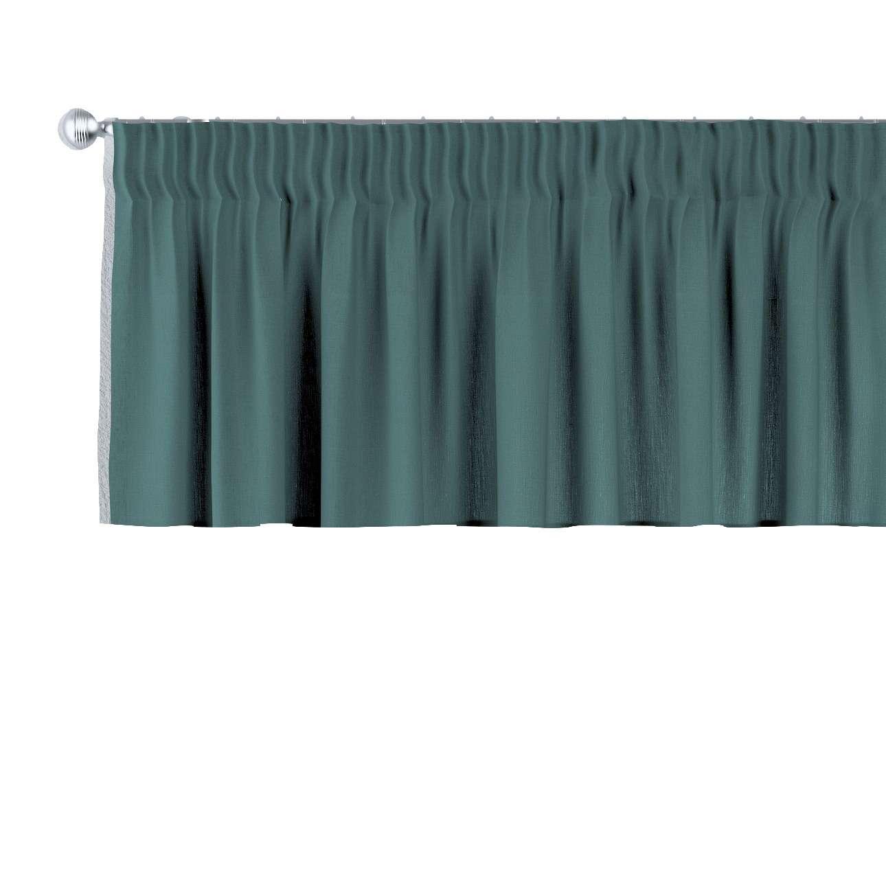 Krátky záves na riasiacej páske V kolekcii Linen, tkanina: 159-09