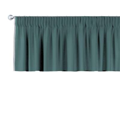 Pencil pleat pelmet 159-09 off emerald green Collection Linen